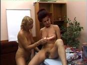 Mature Blondes Pleasure Each Other With A Toy